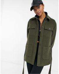 & Other Stories Куртка Цвета Хаки Из Переработанного Материала С Поясом -зеленый Цвет