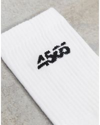 ASOS 4505 Crew Socks With Anti Bacterial Finish 3 Pack - White