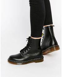 Dr. Martens Modern Classics - Gladde 1460 8-oogjes Boots - Zwart