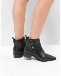 London Rebel - Studded Gusset Chelsea Boot - Lyst