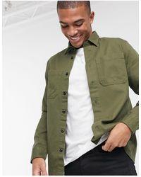 SELECTED Рубашка Навыпуск Цвета Хаки -зеленый Цвет