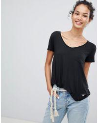 Hollister - Drapey Voop T-shirt - Lyst