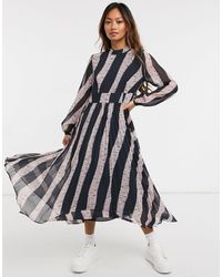 Whistles Jungle Cat Stripe Dress - Blue