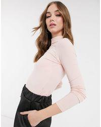 Miss Selfridge Roll Neck Jumper - Pink