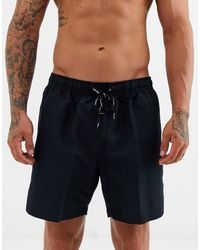 Calvin Klein Halflange Zwemshort Met Trekkoord - Zwart