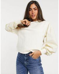 Vero Moda - Sweatshirt With Volume Sleeves - Lyst