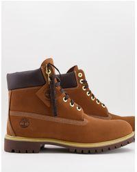 Timberland Коричневые Ботинки Высотой 6 Дюймов Premium-коричневый Цвет