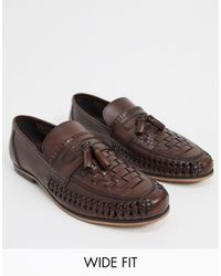 ASOS Wide Fit Loafers - Brown
