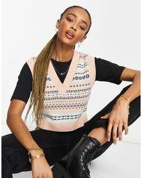 ASOS Knitted Crop Vest - Multicolor