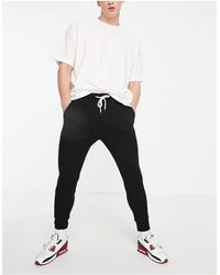 Pull&Bear Join Life Pique joggers - Black