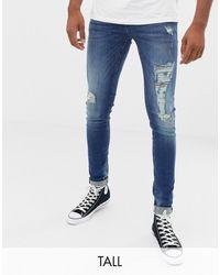 Blend Jeans super skinny invecchiati lavaggio scuro - Blu