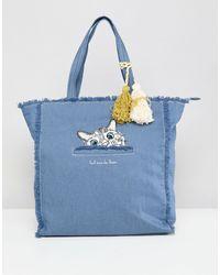 Paul & Joe Sister – Cat – Shopper-Tasche - Blau