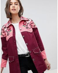 ASOS - Western Embroidered Jacket - Lyst