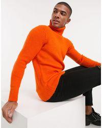Tom Tailor – farbiger Pullover mit Rollkragen - Orange