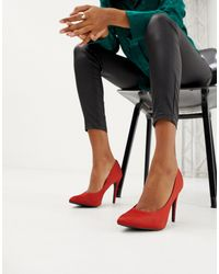 New Look Satin Pointed Court Shoe - Orange