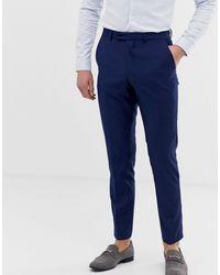 French Connection – Schmale, einfarbige Anzughose - Blau