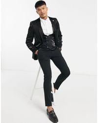 Twisted Tailor Giacca da abito con colletto - Nero