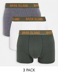 River Island 3 Pack Hipster - Green