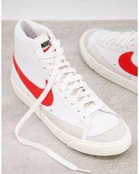 Nike - Кроссовки Белого И Красного Цвета Blazer Mid 77-белый - Lyst
