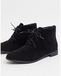 Brave Soul Lace Up Chukka Boots - Black