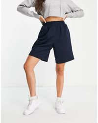 Object Knitted Shorts - Blue
