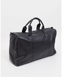 French Connection Faux Leather Classic Holdall Bag - Black