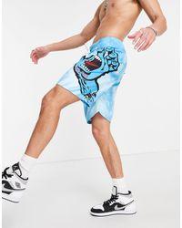 Santa Cruz Tie-dye Hand Board Shorts - Blue
