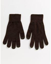 ASOS – Touchscreen-Handschuhe - Braun