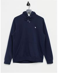 Abercrombie & Fitch Icon Logo Hoodie - Blue
