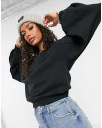 UGG Brook Balloon Sleeve Crewneck Sweater - Black