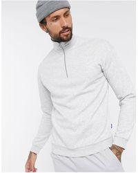 Jack & Jones Originals - Sweater Met Korte Rits - Wit