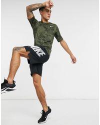 Nike - Термофутболка С Зеленым Камуфляжным Принтом Nike Pro Training-зеленый - Lyst