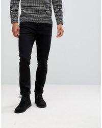Nudie Jeans - Co Tilted Tor Skinny Fit Jean Dry Cold Black - Lyst