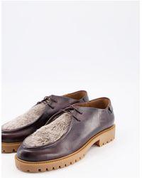 H by Hudson Коричневые Туфли С Вставкой Из Искусственного Меха -коричневый Цвет - Многоцветный