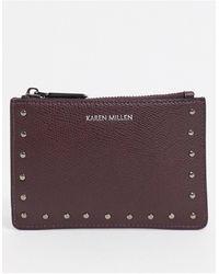 Karen Millen Studded Leather Purse - Metallic