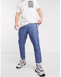 Only & Sons Cropped Krijtstreep Jeans - Blauw
