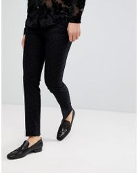 Noose And Monkey - Super Skinny Trouser With Flocking - Lyst