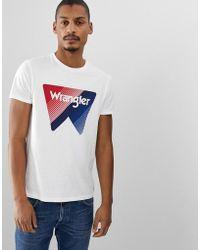 Wrangler Large Box Logo Crew Neck T-shirt In White