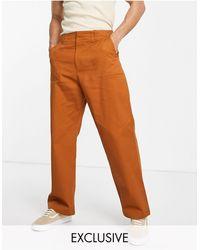 Collusion Pantalon droit fonctionnel - Rouille - Multicolore