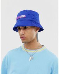 ASOS Cappello da pescatore in nylon blu cobalto