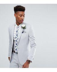 ASOS Asos Tall Wedding Skinny Suit Jacket - Gray