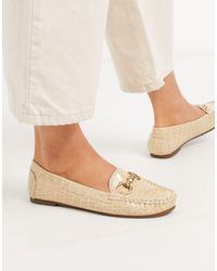 Truffle Collection Metal Trim Loafer - Natural