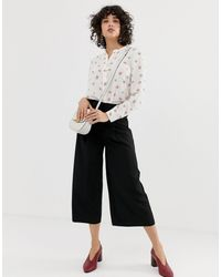 Warehouse Culottes With Pleat Detail - Black