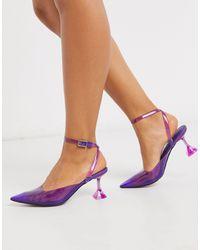 ASOS Spice - Chaussures à talons évasés - Violet et rose