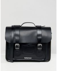 """Dr. Martens 15"""" Leather Satchel - Black"""
