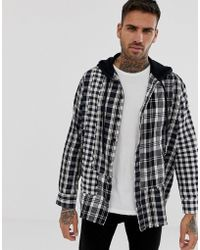 DIESEL - S-michi Oversized Shirt With Hood In Check - Lyst
