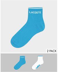 Lacoste Set Van 2 Paar Lage Sokken - Blauw