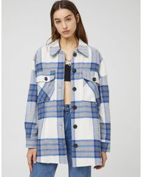 Pull&Bear Overshirt Shacket - Blue