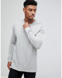 big sale presenting multiple colors Nike Cotton Long Sleeve Cuff Logo T-shirt In Grey 888422-071 ...