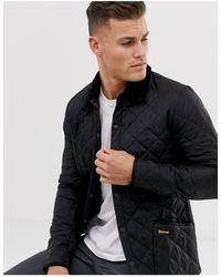 Barbour Черная Стеганая Куртка -черный Цвет